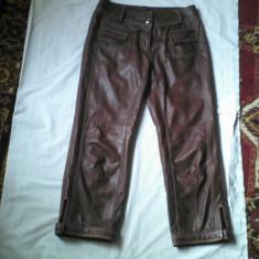 Pantaloni dama, Trei-sferturi, Maro, Marime: 36, Piele - PANTALONI TREI SFERTURI PIELE -ON STAGE LICHIDARE STOC