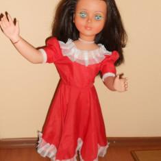 Papusa de colectie - RARITATE!! Superba Papusa ARADEANCA in rochie.Dimensiune foarte mare 75cm. (Romania, Vintage, vechi, De colectie, epoca comunista Ceausescu) Anii 80-90.