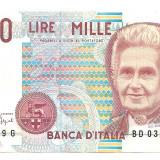 Bancnota Straine - Italia 1000 lire 1990 XF