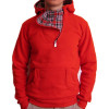Pulover Hanorac cu Gluga in Carouri Hoodie Sweater PARISIEN Rouge | Factura, Garantie 3 Luni!