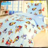 Lenjerie de pat din bumbac 100% antialergic, produs in Romania, Model Disney
