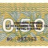 Bancnota Straine - Lituania 0.50 talonas 1991 P-31 UNC !!!