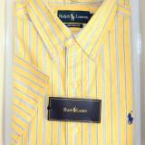 Camasa Polo by Ralph Lauren - Camasa barbati Ralph Lauren, Marime: L, Culoare: Galben, Maneca scurta