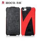 Husa piele HOCO - Mixed, iPhone 5 / 5s, SE, flip cover, dif modele negru+rosu - Husa Telefon Apple