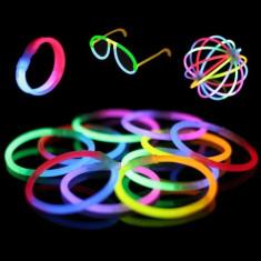 GLOW STICK-Set 100 bratari luminoase fluorescente multicolore - Efecte lumini club