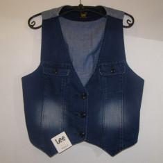 Vesta blugi dama Lee - Vesta dama Lee Jeans, Marime: L, Culoare: Albastru, Albastru, Bumbac