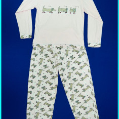 FRUMOASA _ Pijamale din bumbac de calitate, made in Germania _ fete | 9 - 10 ani, Culoare: Roz