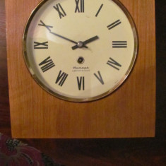 PVM - Ceas de perete sovietic (URSS) tip pendul (pendula) dar lipsa pendul