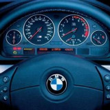 Ceas Auto - Inele ceasuri bord CROM (lucioase) BMW E38 E39 E53 / X5