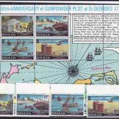 Navigatie, harti, Bermuda. - Timbre straine, America Centrala si de Sud