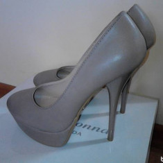 Pantofi dama, Marime: 36, Nude - Pantofi nude noi