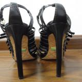 Sandale dama L A M B, Marime: 36, Negru - Sandale negre 36 piele LAMB GWEN STEFANI