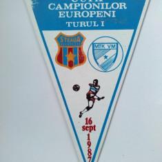 Fanion fotbal - Fanion Cupa Campionilor Europeni, Turul I : STEAUA Bucuresti - MTK VM, 16 septembrie 1987