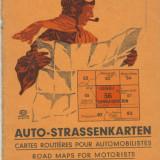 Harta Auto, 1:300.000, anii 1930-40, pentru zona Targu Mures