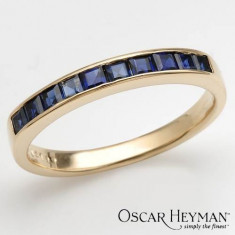 Nou! Inel minunat aur 18K cu safire veritabile, Oscar Heyman - Inel aur, Culoare: Galben, 46 - 56