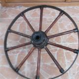 Roata caruta rustica lacuita si vopsita - Mobilier, 1900 - 1949