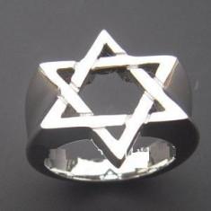 Inel inox - Inel masonic - Steaua lui David marea loja mason