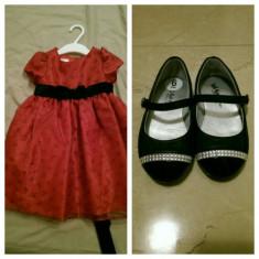Rochie & pantofi eleganti fetite - Pantofi copii, Culoare: Alta