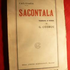 Carte mitologie - Calidasa -Sacontala -Poema Indiana -trad.G.Cosbuc, ilustratii semnate, cca.1920