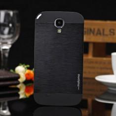 Husa Telefon Samsung, Negru, Metal / Aluminiu, Husa - Husa aluminiu neagra MOTOMO Samsung Galaxy S4 i9500 i9505 + folieecran