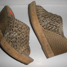 Sandale dama, Piele naturala - LICHIDARE STOC ! Saboti cu talpa ortopedica NOI piele foarte comozi Sz 38 !