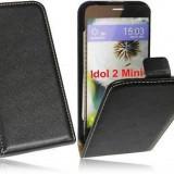 Husa Alcatel Idol 2 Mini 6016 / 6036 Flip Case Inchidere Magnetica Black