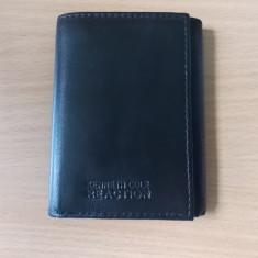 Portofel barbati Kenneth Cole REACTION **Piele naturala**, Negru, Mini-portofel