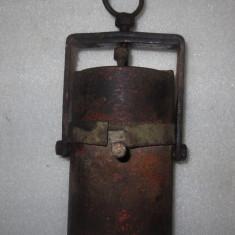 Veioza/Lustra/Lampa - Veche lampa carbit mare, masiva