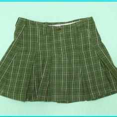 DE FIRMA _ Fusta primavara/toamna, plisata, de calitate, H&M _ fete | 9 - 10 ani, Culoare: Olive
