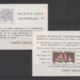 Mexic.1979 Universiada Mexico-Bl. RN.582 - Timbre straine