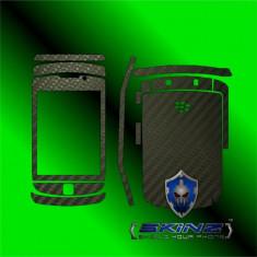 Folie de protectie - BLACKBERRY TORCH 9800 - Folie Carbon SKINZ kit full body, Protectie totala telefon profesionala, ecran, spate, carcasa, husa tip skin