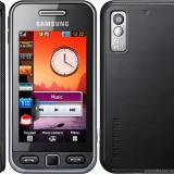 Telefon Samsung, Negru, Nu se aplica, Neblocat, Fara procesor, Nu se aplica - MicroSD, up to 16 GB;240 x 400 pixels, 3.0 inches; TFT resistive touchscreen;, 256K colors telefonul a fost folosit