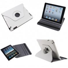 Husa Rotativa 360 grade Apple iPad 2 New iPad 3 4 White - Husa Tableta