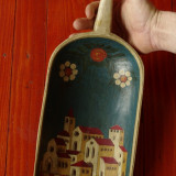 ornament - decor - lopata de mana din lemn pictata manual - Verona 1969