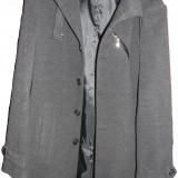 Palton barbati, Gri - Haină bărbaţi 3 sferturi noua