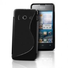 Husa Telefon Huawei, Negru, Gel TPU, Fara snur, Carcasa - Husa HUAWEI Ascend Y300 TPU S-LINE Black