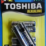 Baterii Alkaline Toshiba Tip AAA | LR03 | R3 | Set 4+2 cadou | 1.5V | Calitate GARANTATA - Baterie Camera Video