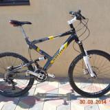 Vand mountain bike full suspension Wheeler Raceline Comp 30, 20 inch, 26 inch, Numar viteze: 30, Aluminiu, MTB Full Suspension