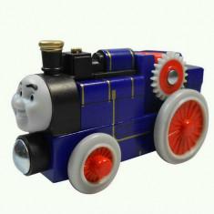 Trenulet de jucarie, Lemn, Unisex - Wooden trenulet jucarie Thomas - FERGUS locomotiva lemn magnet - 100% original