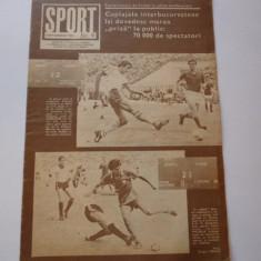 Revista SPORT (septembrie1983) prezentarea echipei RAPID Bucuresti; cuplaje interbucurestene