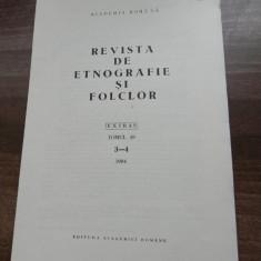 ALEXANDRU DOBRE - UN OBICEI DISPARUT - LEGATUL VIILOR extras revista de etnografie si folclor 3-4/1994 - Carte Hobby Folclor