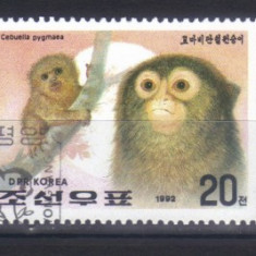 Coreea de Nord 1992, Fauna - Maimute, serie completa stampilata - Timbre straine