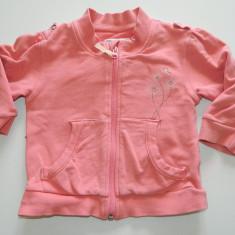 Haine Copii 1 - 3 ani, Bluze, 92 (2 ani, inaltime 87 - 92 cm), Rose - Bluza de exterior pentru fetite, marca Decathlon, marimea 2 ani, cu fermoar