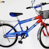 Bicicleta Albastru cu Negru Alex 20 ,cu cosulet in fata ( Super oferta )