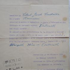 Ordin de misiune, ofiter superior roman, Document militar francez original, Versailles, 1924, Ciclu informatic pentru generali si colonei + bonus