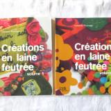 Carte design vestimentar - CREATIONS EN LAINE FEUTREE, Vol. 1+2, Catherine Pluvinage, 2006. Absolut noua
