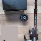 Lanseta / Lansete Carbon 100 % Oxygen Champion Carp 3, 90 Metri Telescopica + Mulineta FL Baitrunner 7 Rulmenti