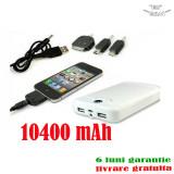 Incarcator Baterie iPhone 4 S Samsung Galaxy Ace S3 i9300 S4 i9500  USB 10400mAh