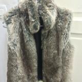 vesta dama din blana ecologica