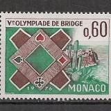 Monaco.1976 Olimpiada de bridge CM.157 - Timbre straine